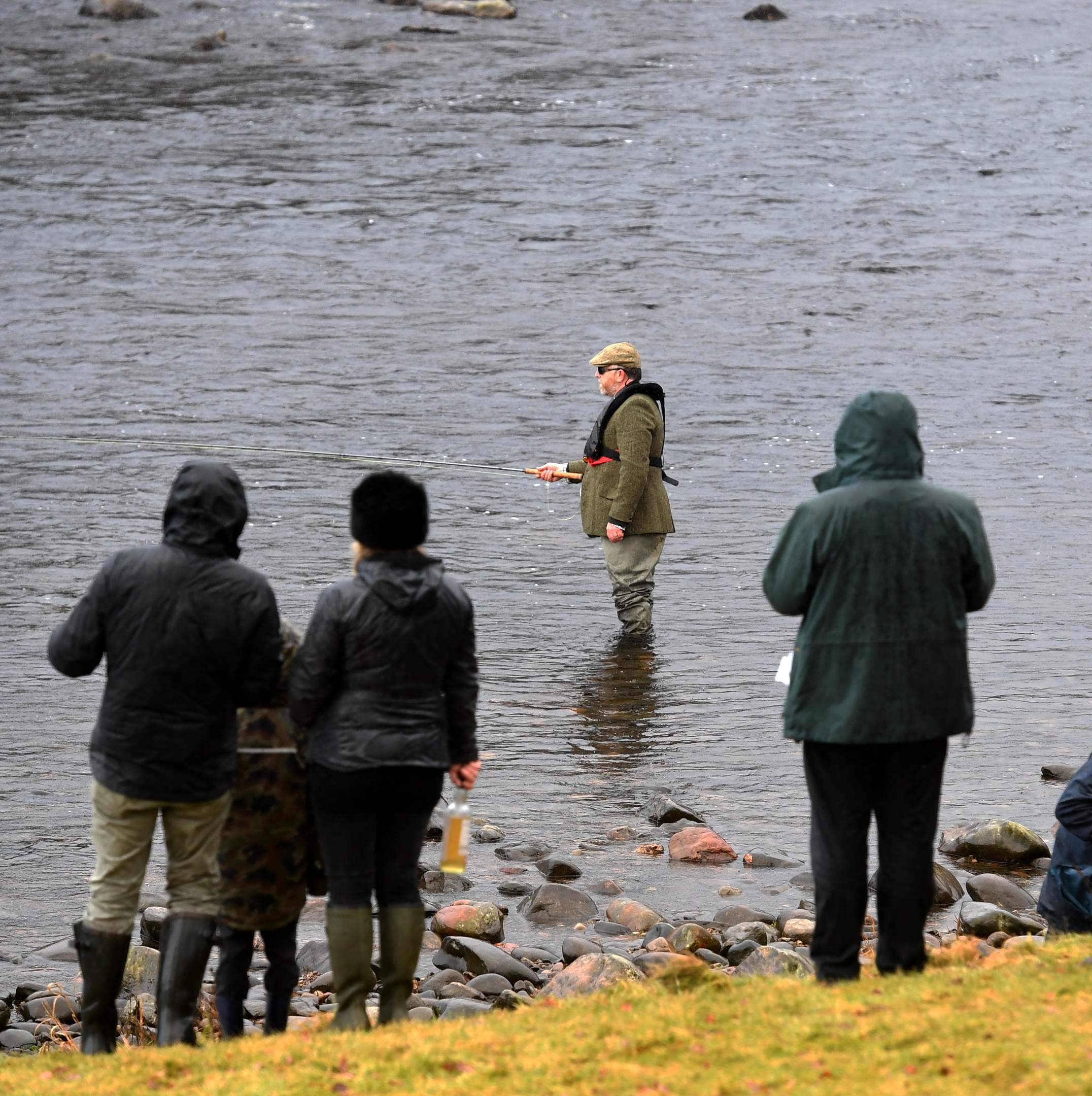 The official opening of the River Dee season at Banchory Lodge. Pictured is Andrew Flitcroft, editor of Trout and Salmon casting. Picture by Chris Sumner.
