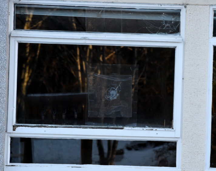 Locator of Banchory primary school, Banchory where vandals smashed in some windows.  Picture by Jim Irvine  13-2-18