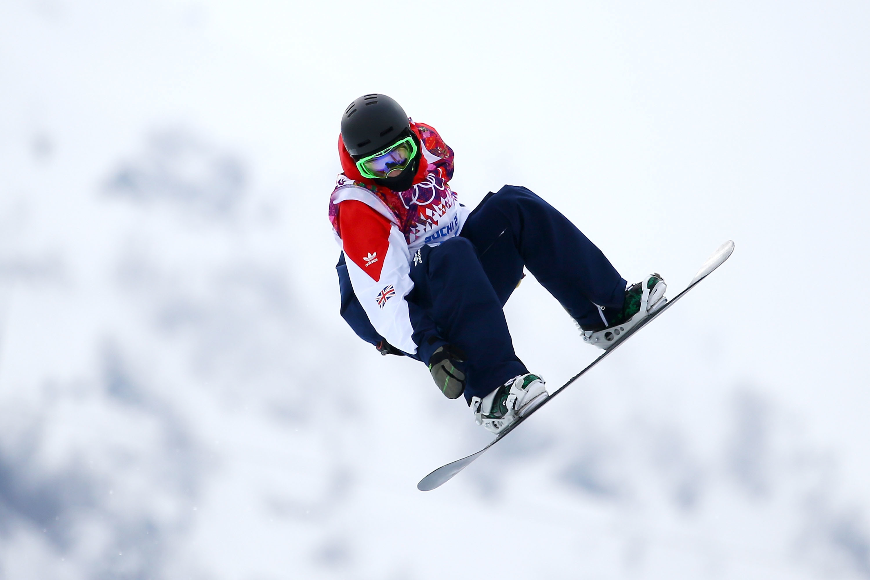 Ben Kilner of Great Britain competes in the Snowboard Men's Halfpipe Qualification Heats on day four of the Sochi 2014 Winter Olympics.