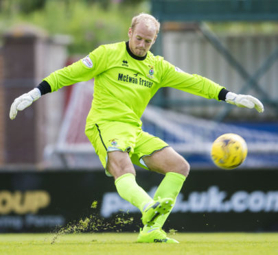 Caley Thistle goalkeeper Mark Ridgers.