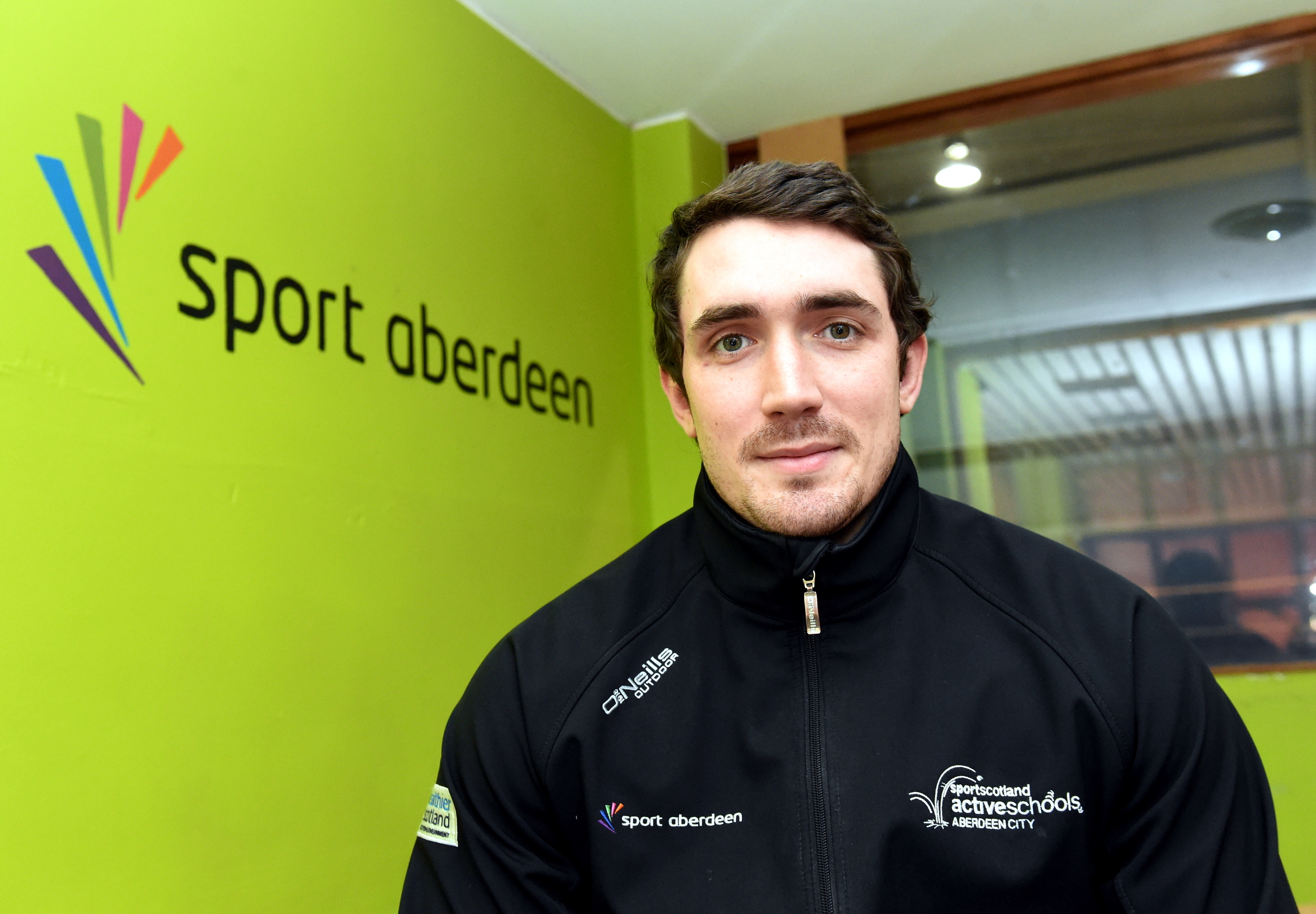 Andy Paxton of Sport Aberdeen's Active Schools Team at Kincorth Sports Centre