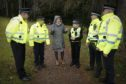 Roseanna Cunningham with a team of Wildlife Special Constables
