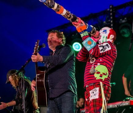 The Levellers performing at the 2016 Tiree Music Festival.