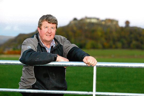 Andrew Hornall of Falleninch Farm, near Stirling.