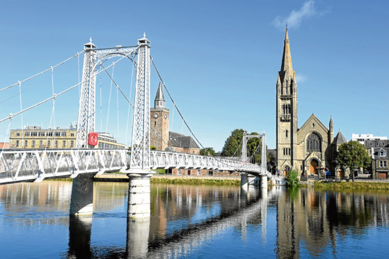 The Greig Street bridge in Inverness.