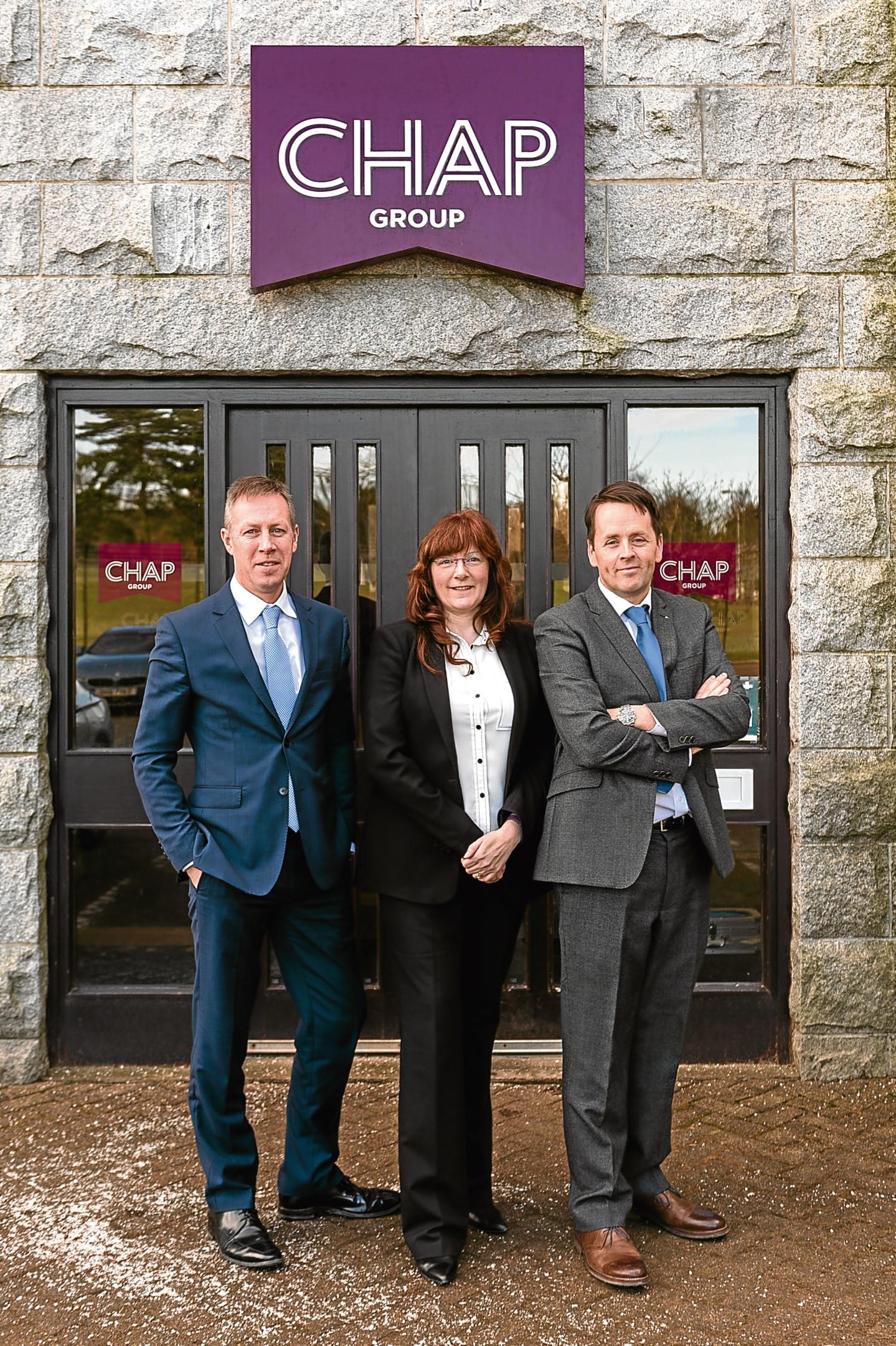 Douglas Thomson, Joint Managing Director; Shona Gee, Finance Director; Hugh Craigie, Joint Managing Director