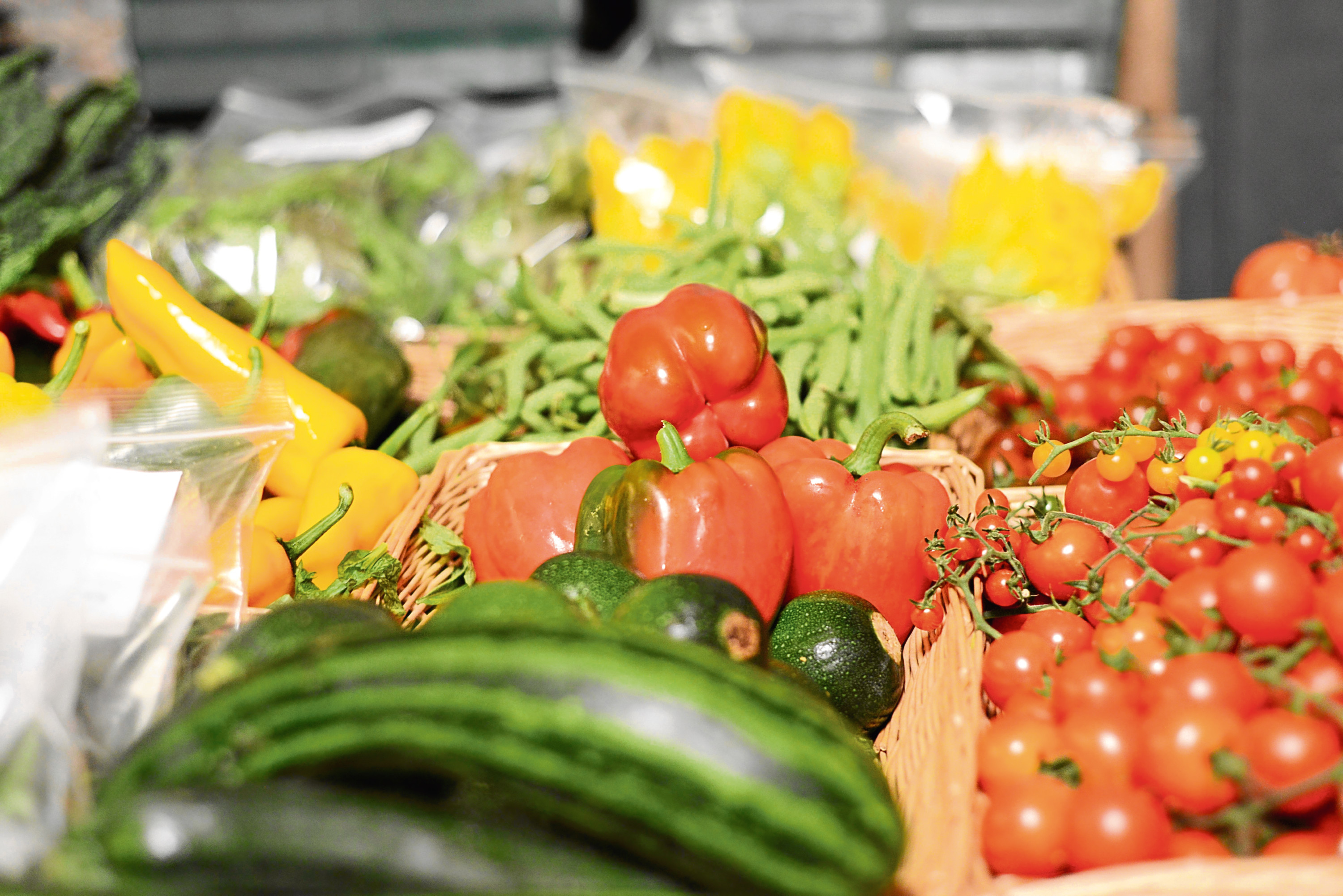 Vegetables on offer at a Food Assembly event. Pic for food assemblies feature