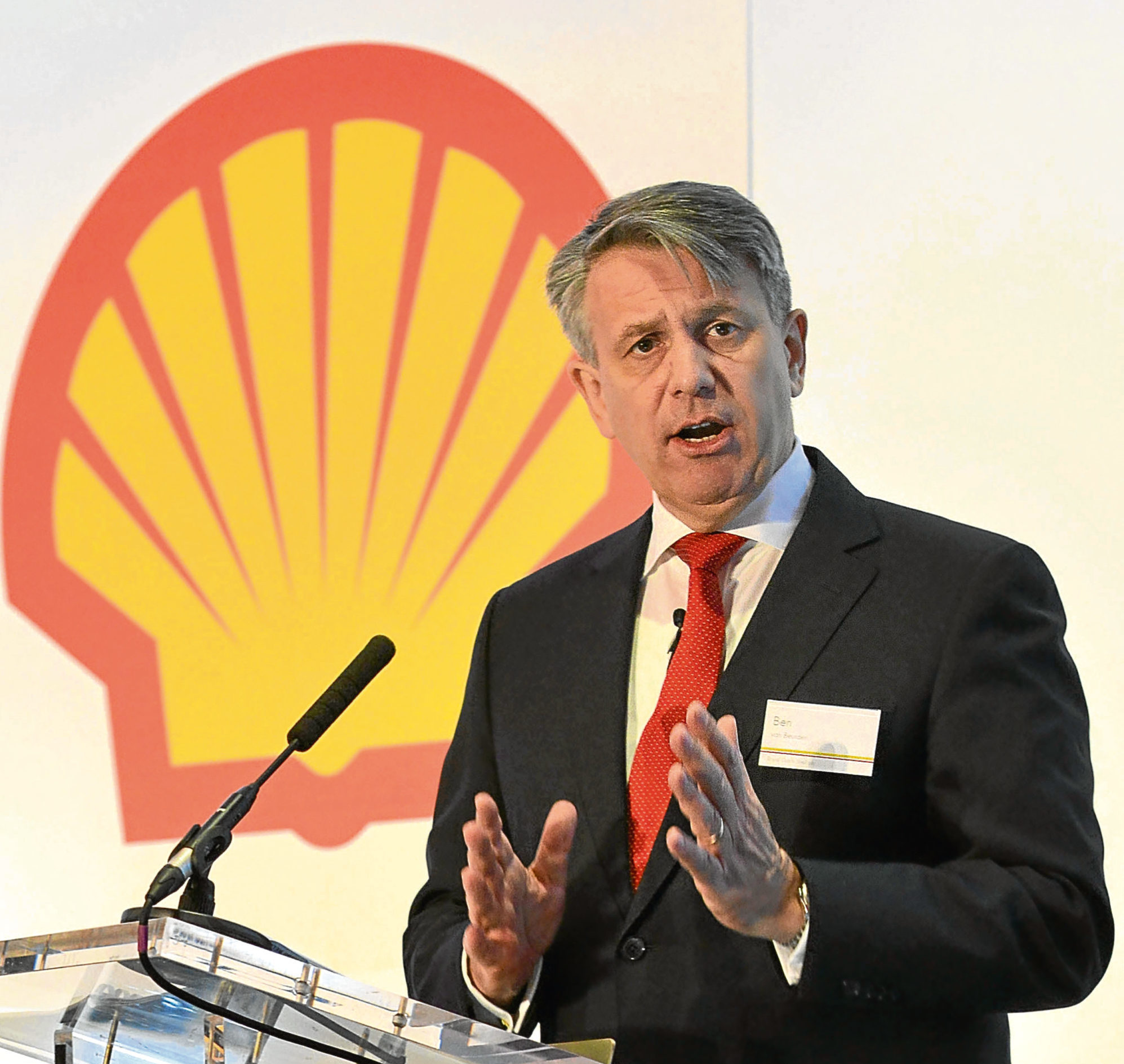 Newscast handout photo dated 29/01/15 of Royal Dutch Shell's Chief executive Ben van Beurden, who has pocketed a near-£800,000 pay rise, lifting his annual package close to £8 million after resurgent oil prices boosted group profits. PRESS ASSOCIATION Photo. Issue date: Thursday March 15, 2018. Mr Van Beurden saw his total pay packet climb 11% to £7.811 million last year, with his annual bonus jumping by a quarter to £2.6 million. See PA story CITY Shell. Photo credit should read: Daniel Lynch/Newscast/PA Wire  NOTE TO EDITORS: This handout photo may only be used in for editorial reporting purposes for the contemporaneous illustration of events, things or the people in the image or facts mentioned in the caption. Reuse of the picture may require further permission from the copyright holder.