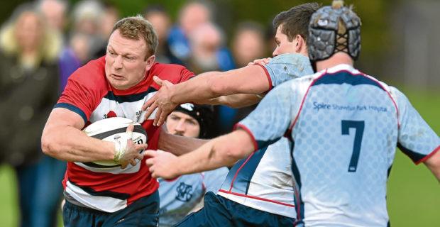 Rugby - Aberdeen Grammar v Selkirk Grammar lost 32 - 36  Grammar Grant Walker with the ball.  Picture by COLIN RENNIE    Saturday Octobere 8, 2016.