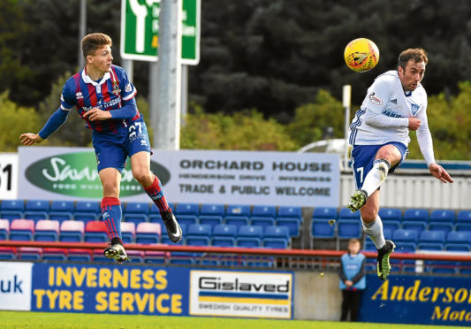 07/10/17 IRN BRU CUP  ICT v PETERHEAD (3-0)  TULLOCH CALEDONIAN STADIUM - INVERNESS  Daniel Mackay scores to make it 3-0 Inverness.