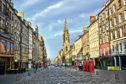 View down the historic Royal Mile, Edinburgh, Scotland