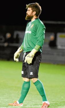 Formartine keeper, Greg Sim.