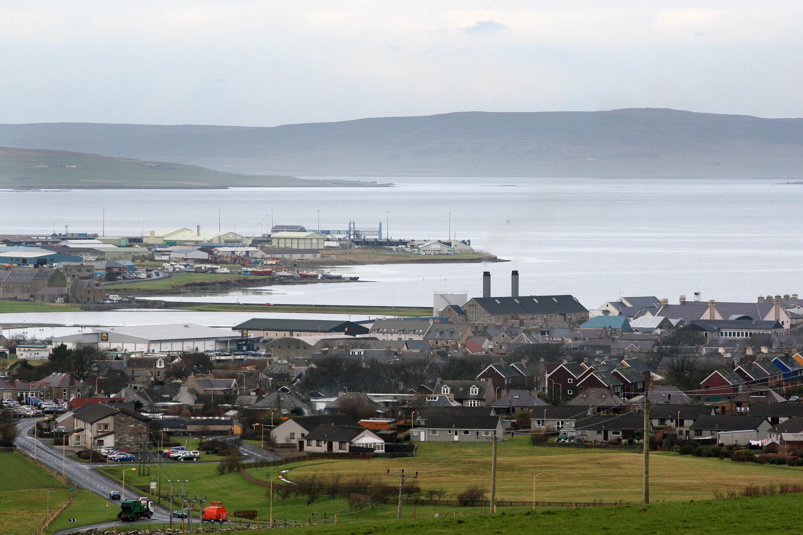 Kirkwall in Orkney.