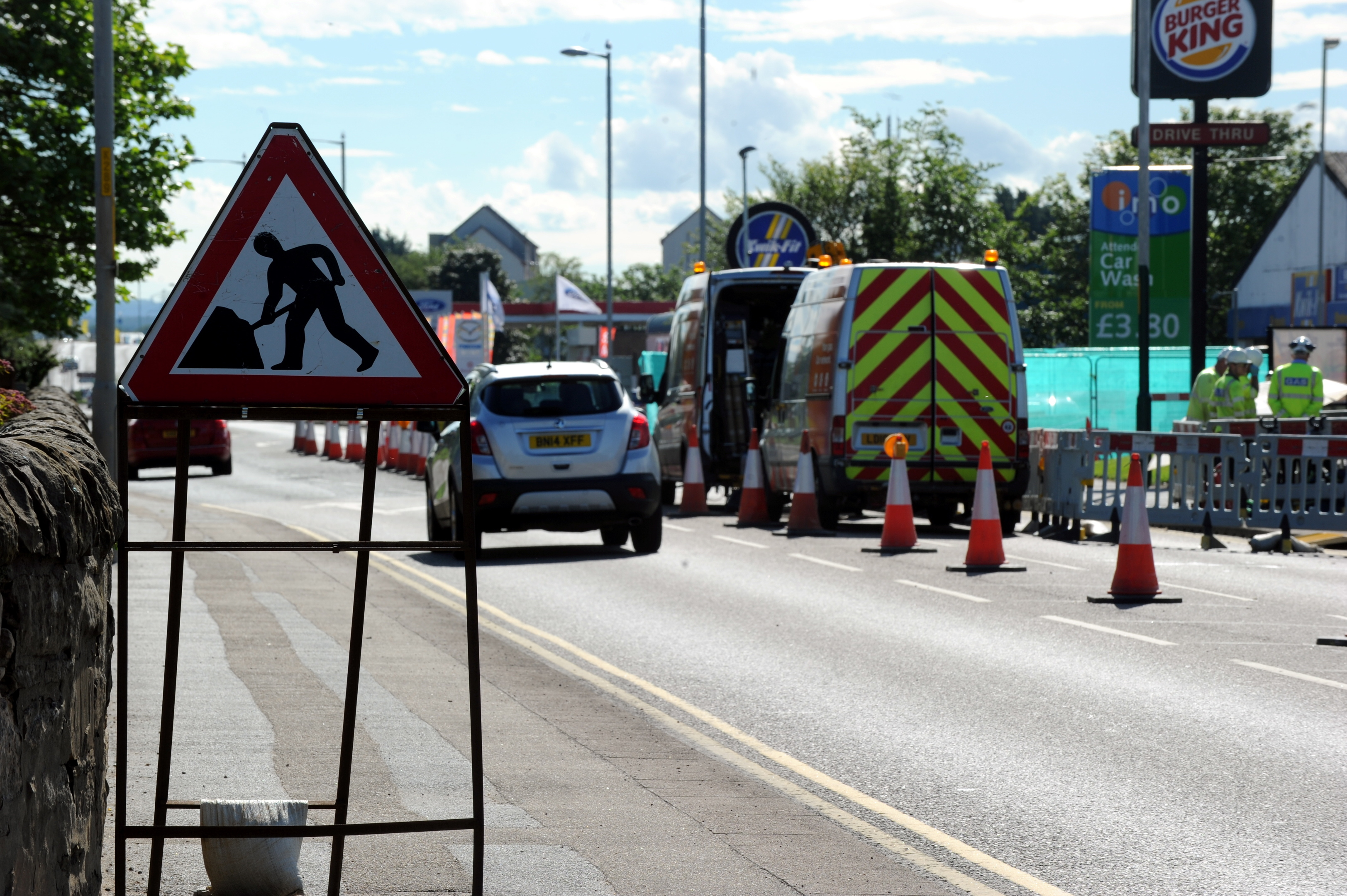 The work will be done on East Road in Elgin.