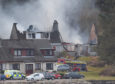 Two houses ablaze in the tiny lochside village of Ardgour.