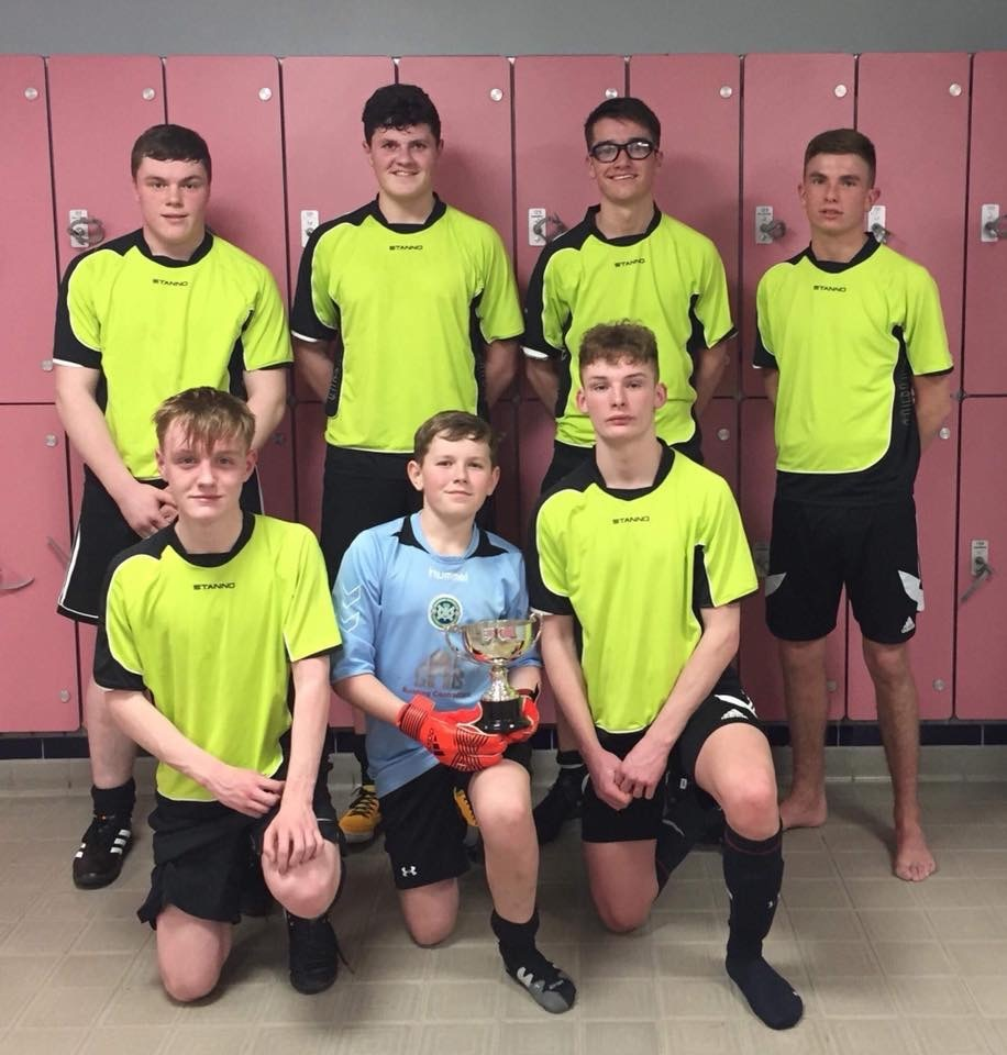 Buckie's five-a-side team. Back row: Jamie Wood, Innes McKay, Brodie Christie, Evan Smith. Front row: Tommie Marandola, Finlay McKay, Jay Flett.