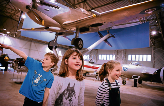 A Spitfire takes pride of place at the new hangar at the Museum of Flight, in East Fortune