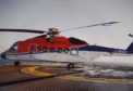 The CHC-operated S-92 aircraft on the West Franklin platform.