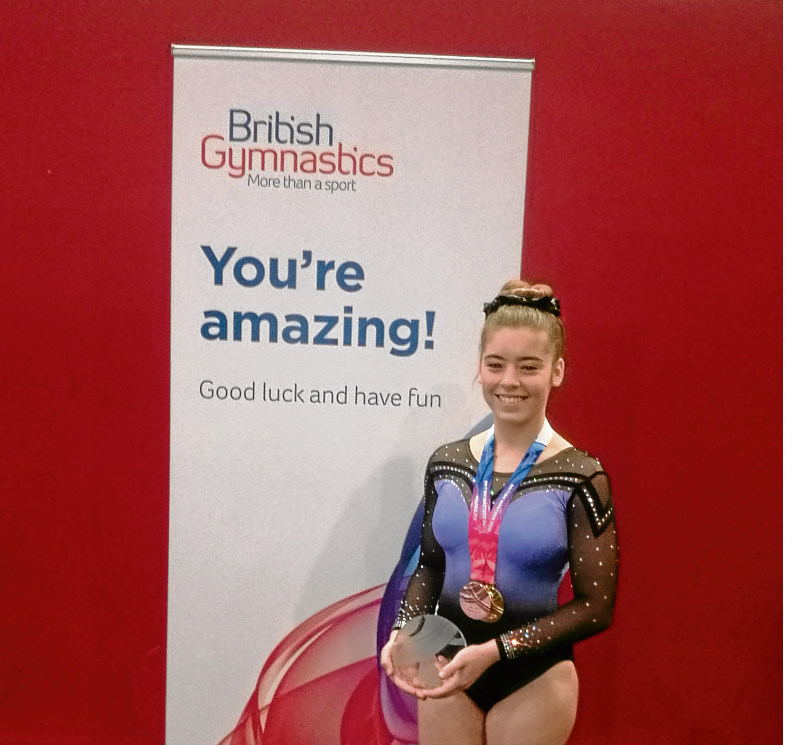 TO THE VICTOR, THE SPOILS: Gymnast Orianne Slater