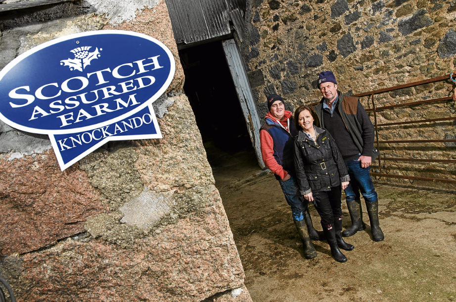 Graham Robertson took on the family farm Knockando in 2008. Pictured with wife Elaine, and son, Gary