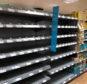 Empty shelves at Co-op on Union Street, Aberdeen.