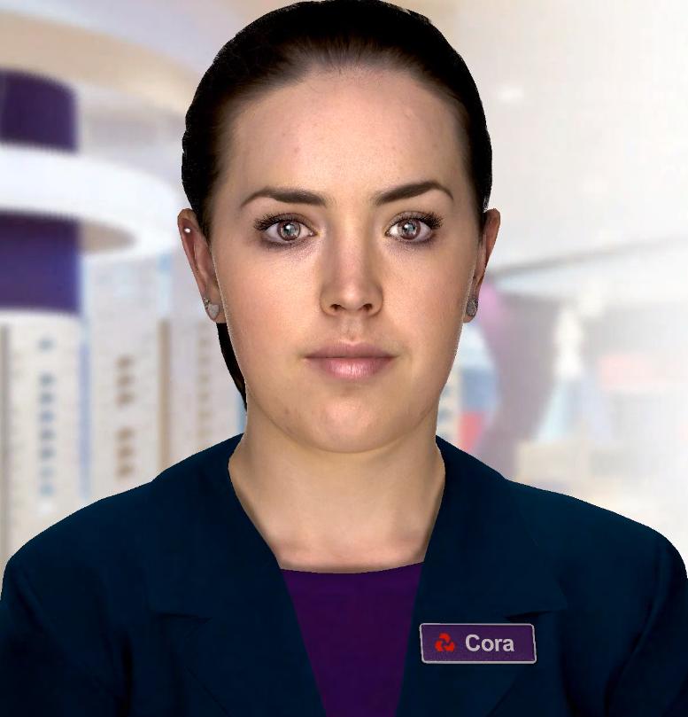 Cora, NatWest's digital human.