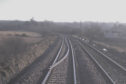 This CCTV image shows the rail that was let on the track. Picture: Virgin Trains East Coast