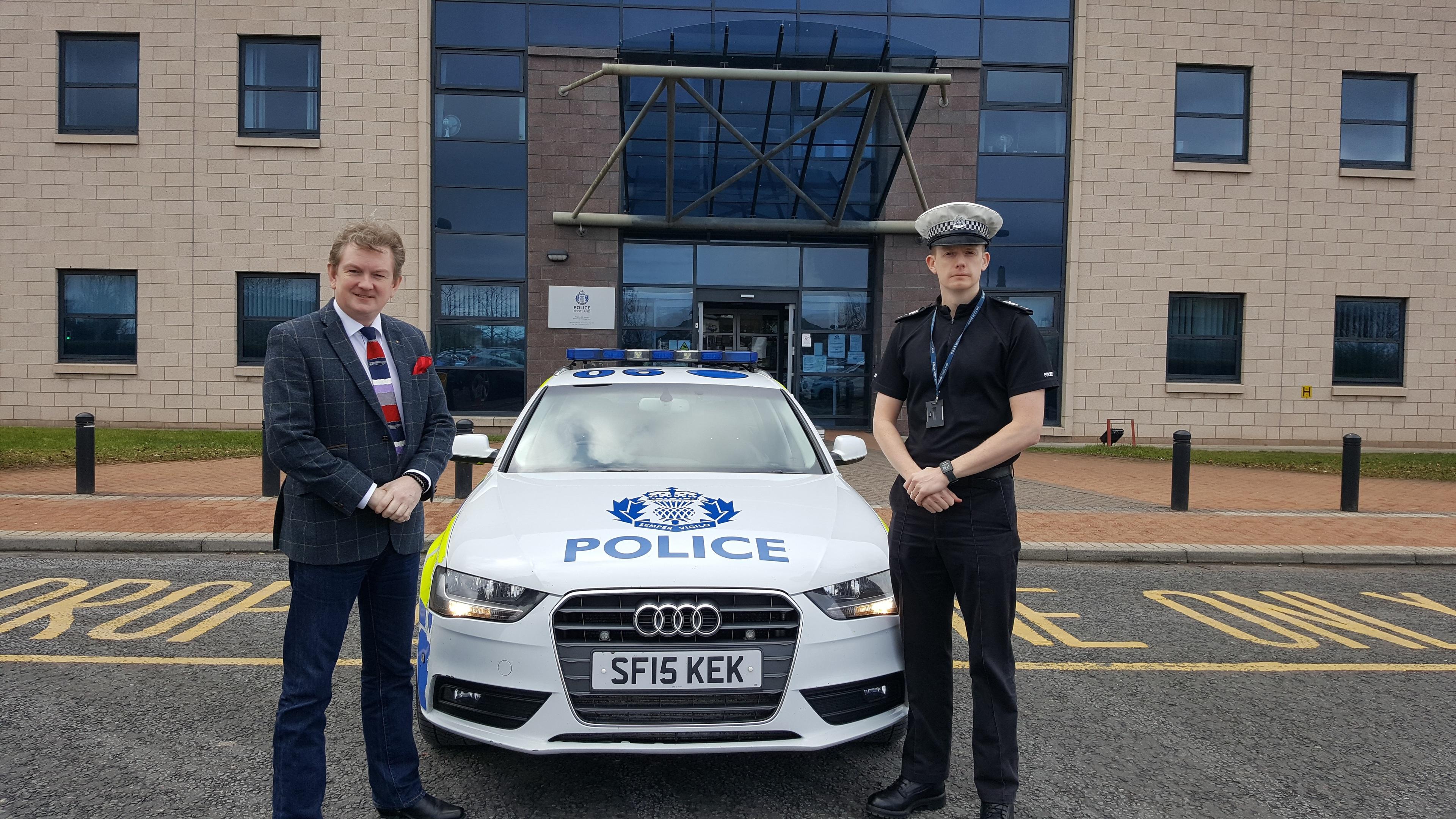 Sergeant Donnie Mackinnon and Jim Ferguson of Crimestoppers