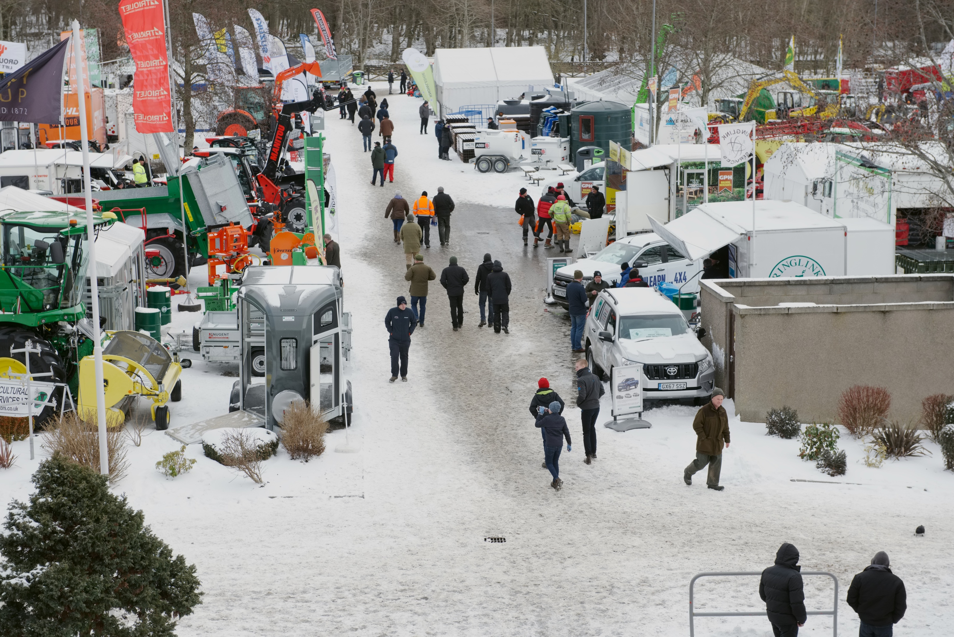 Farmers braved the snow for the Royal Northern Spring Show