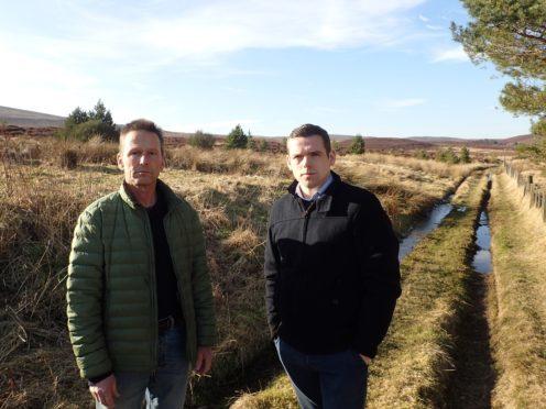 Joerg Bondzio, managing director of Sporting Scotland, with Moray MP Douglas Ross.