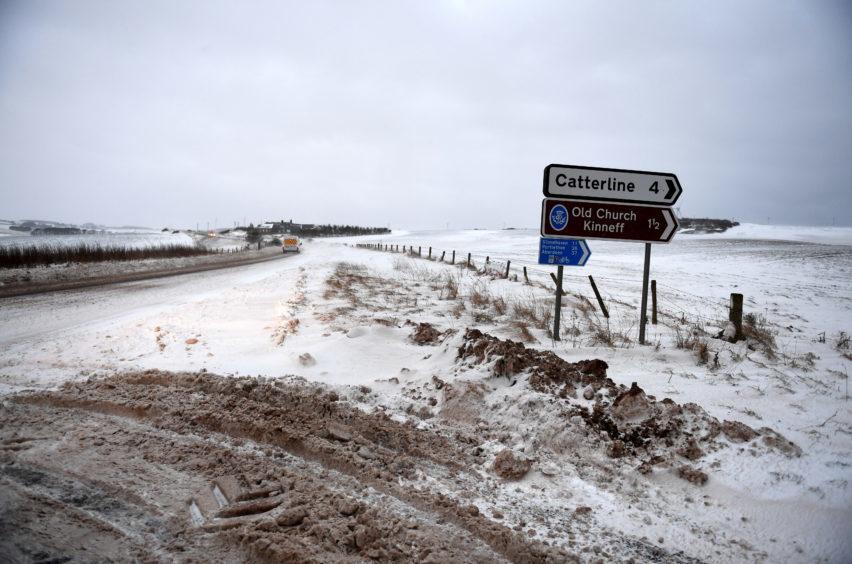 A92 leaving Inverbervie. Pic by Chris Sumner Taken 2/2/18
