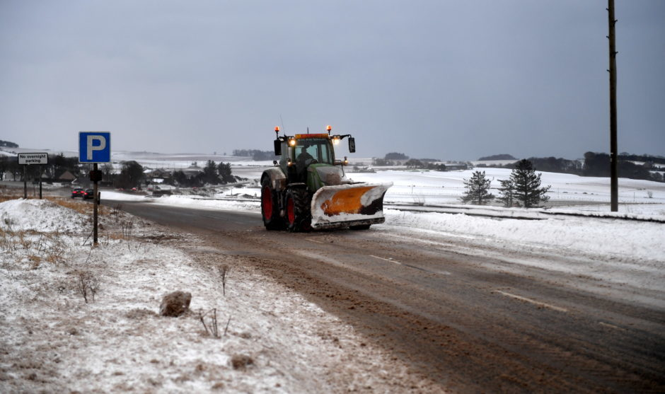 A92 just after Kineff. Pic by Chris Sumner Taken 2/2/18