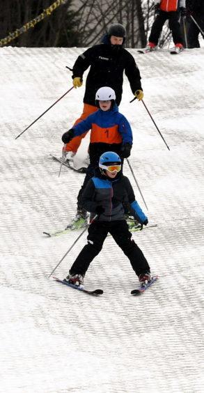 Snowy day in AberdeenOn the Ski slope at Garthdee.