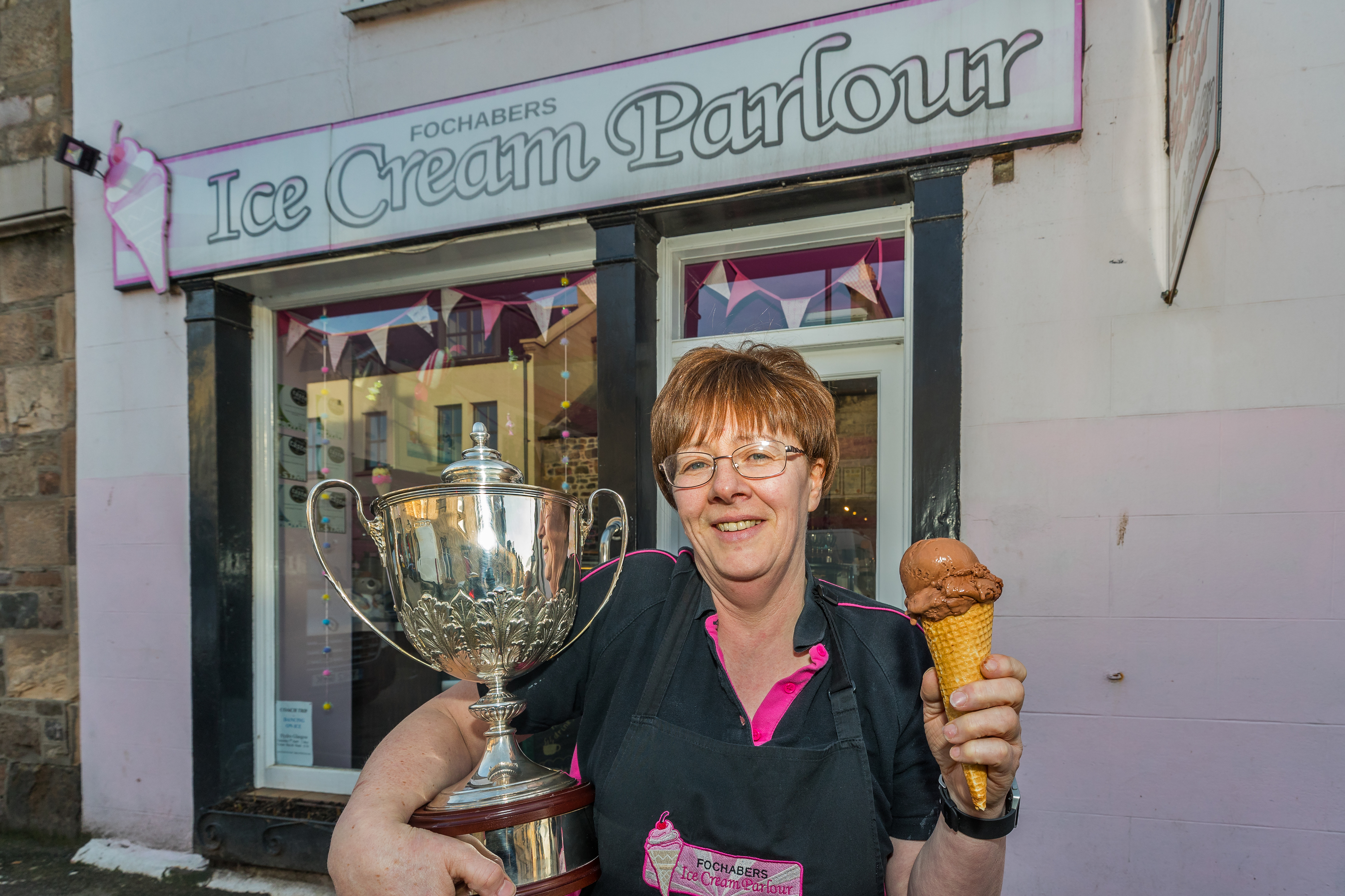 Sheila Gray of Fochabers Ice Cream Parlour