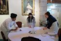 School pupils took part in a banqueting challenge as part of the tourism careers day at Glen Tanar Estate, Aboyne.