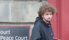 Jack Fraser outside Elgin Sheriff Court.