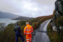 A 15 metre section of the road at Soldiers Rock on the Knoydart peninsula collapsed last autumn.