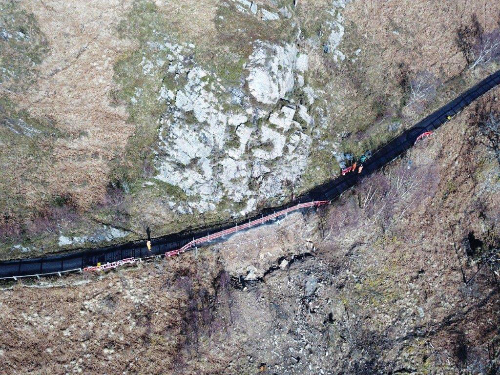 Workers are preparing for the road to open at Knoydart, in time for the Easter holidays