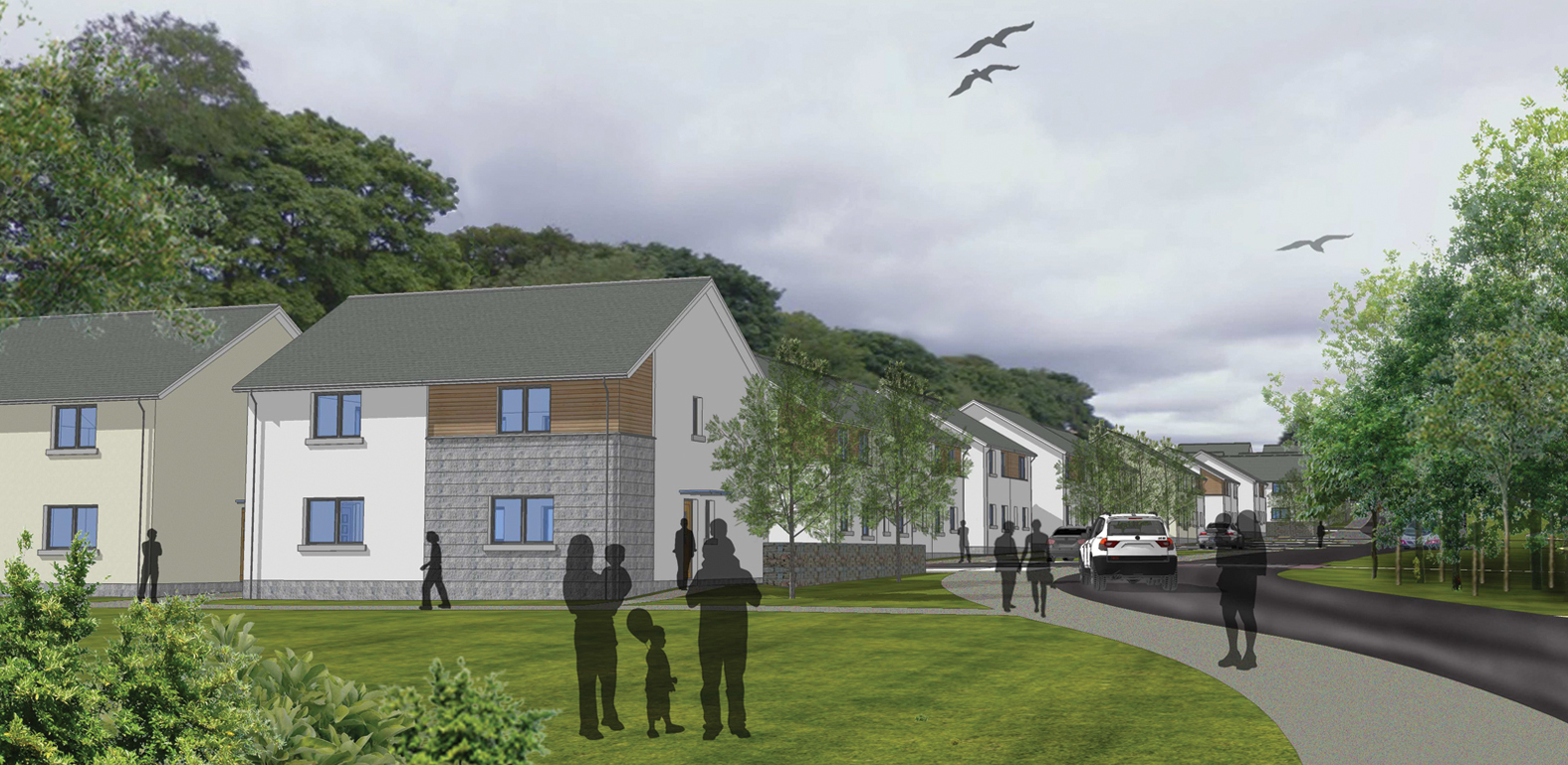 An artist's impression of the homes at Maidencraig.