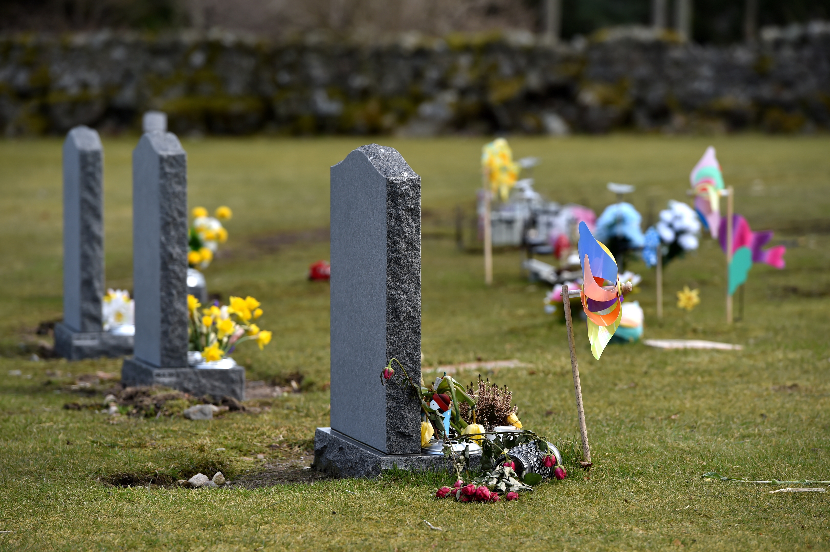 Improvements are to be carried out to the small babies' section at Hazlehead Cemetery after safety concerns have been raised over memorabilia being placed and permanently left on the grass area and near the grass edge.  Picture by Kenny Elrick.