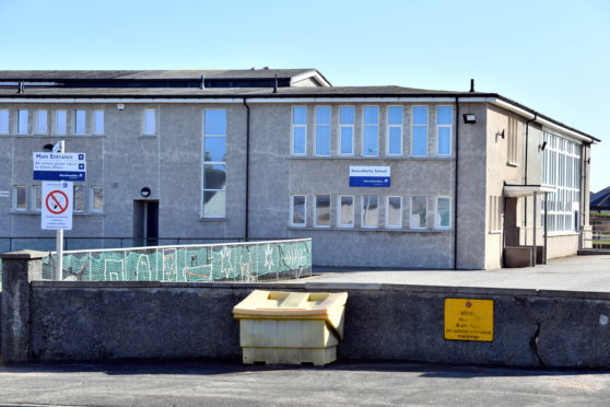 Inverallochy Primary School, which is closed due to a gas leak.