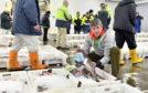 Alistair Dutton in Fraserburgh Harbour Fish Market.