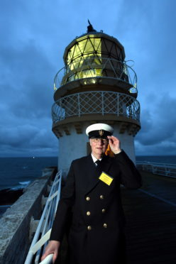 Former keeper and CEO of the Northern Lighthouse Board Ron Morrice who switched the light on.