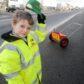 Eight-year-old Kyle Mackay of Kiltarlity.