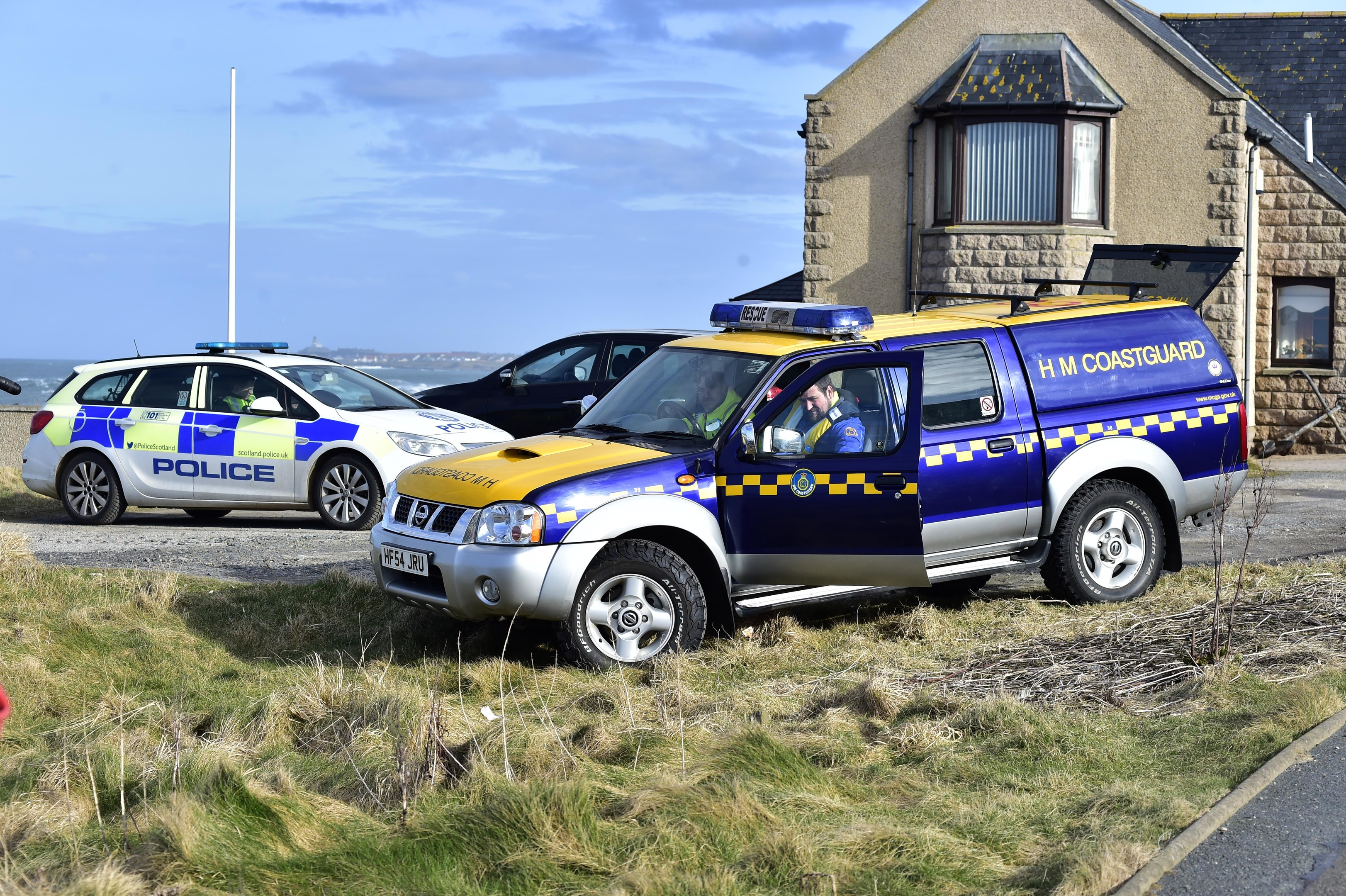 Police and Coastguard teams attended on Tuesday.