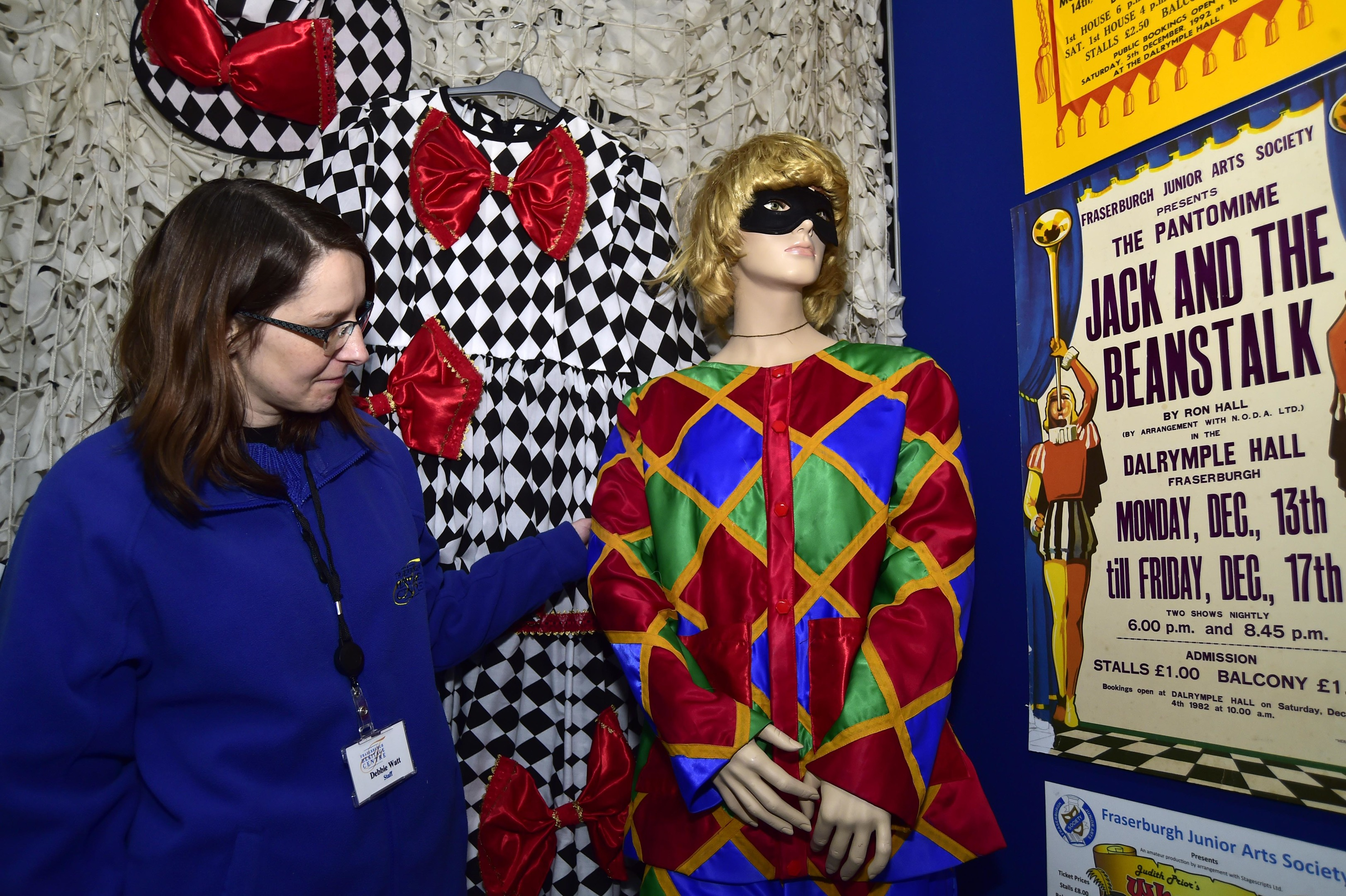 Centre assistant Debbie Watt inspects the new display.