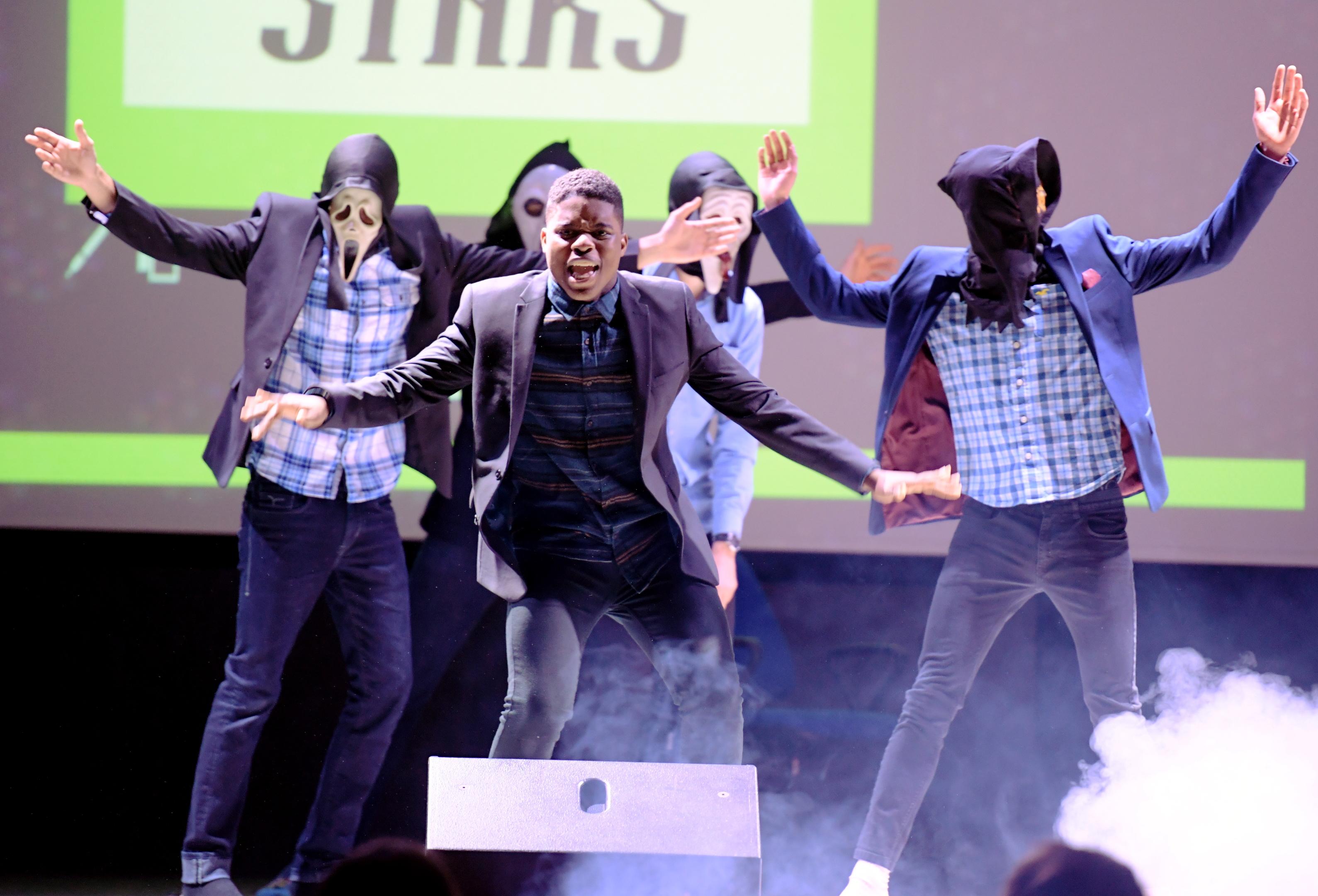 The final of Albyn School's LipSync battle. Bruno Stars perform onstage.