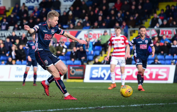 Ross County's Jamie Lindsay scored against Hamilton.
