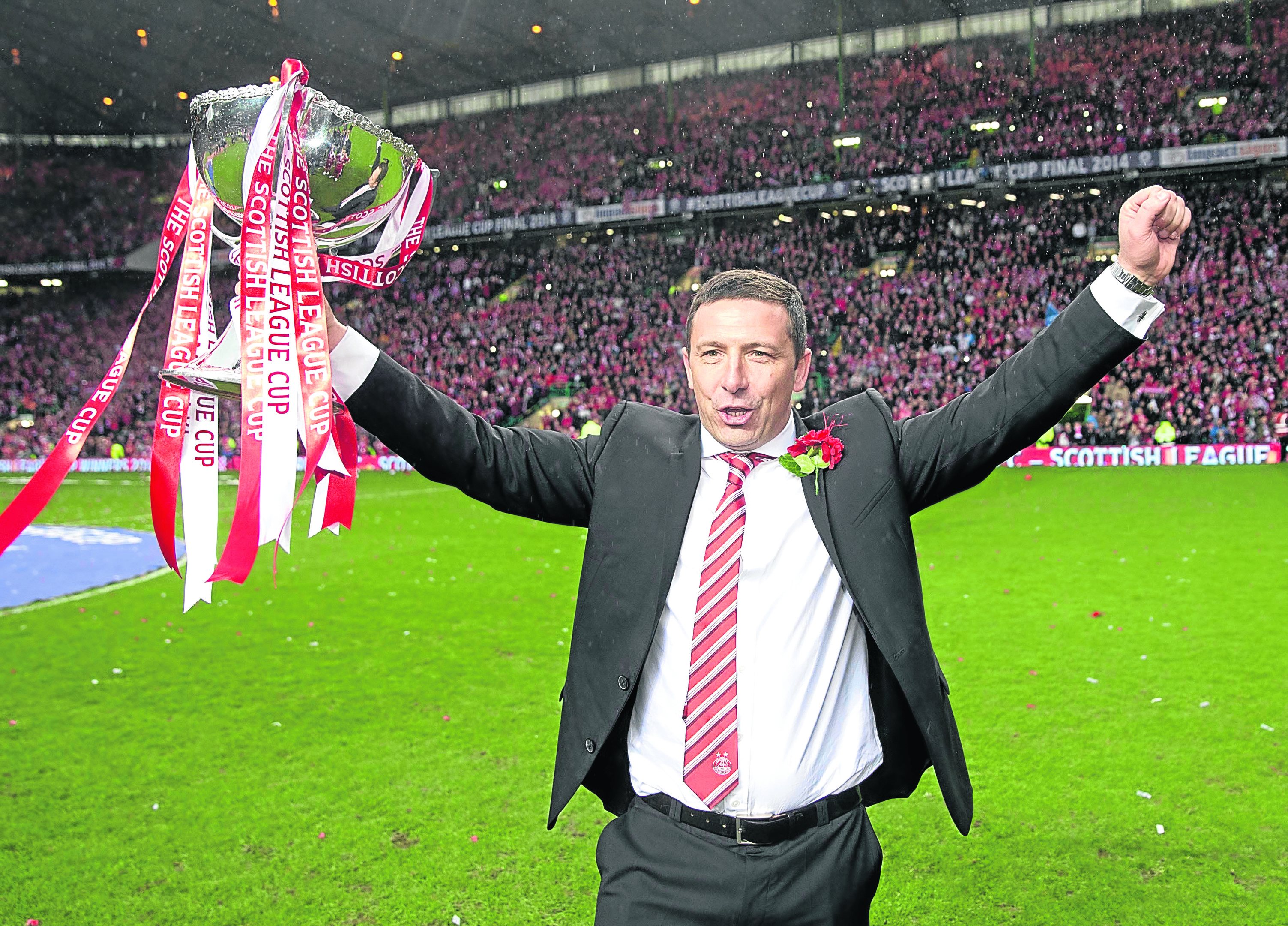 Aberdeen manager Derek McInnes after the Scottish League Cup Final at Celtic Park, Glasgow, in 2014.