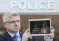 Detective Superintendent Stuart Houston at Police Scotland HQ, Fettes, Edinburgh, with video of Suzanne Pilley's mother Sylvia and sister Gail.